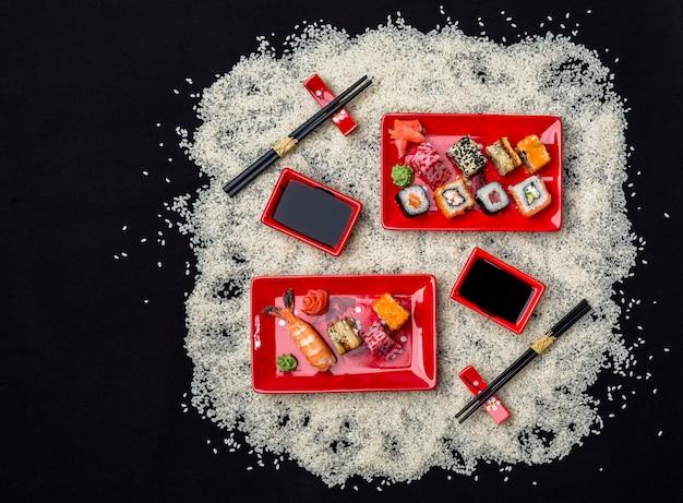 Comida japonesa Foto Premium