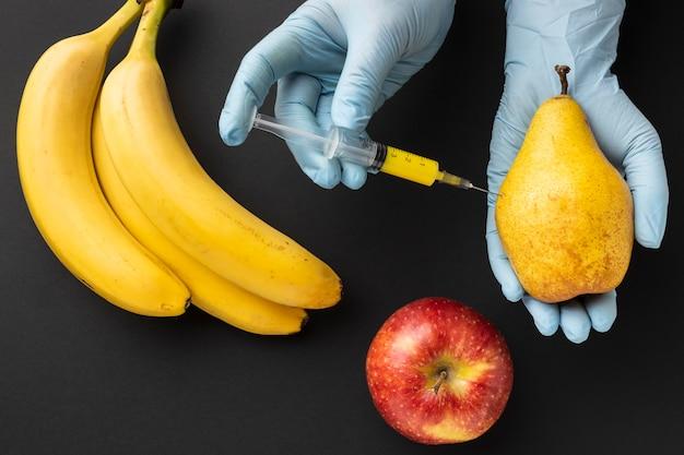 Comida modificada com bananas deliciosas Foto gratuita