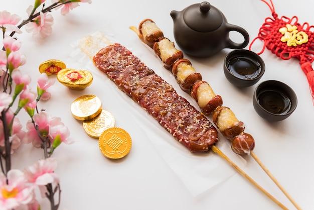 Comida para o ano novo chinês Foto gratuita