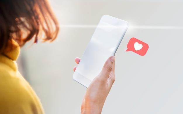 Compartilhando feedback de conteúdo Foto Premium