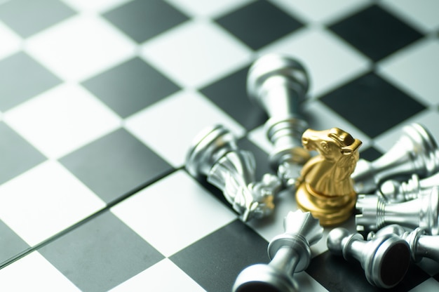 Competição de xadrez Foto Premium