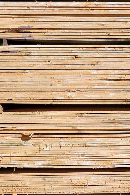 Composição abstrata com pilha de fundo de tábuas de madeira Foto Premium