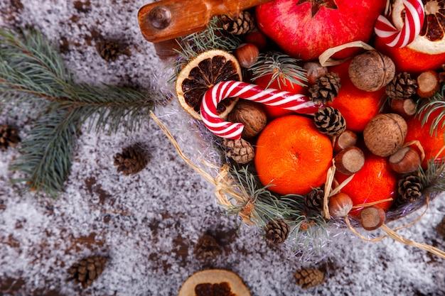 Composição de ano novo de natal Foto Premium