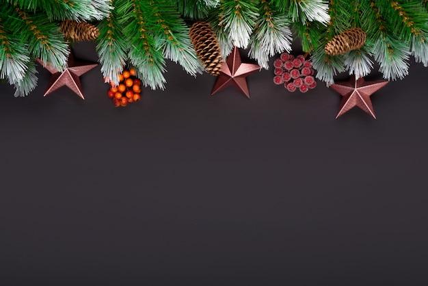 Composição de férias de natal Foto Premium