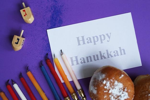 Composição de hanukkah Foto gratuita