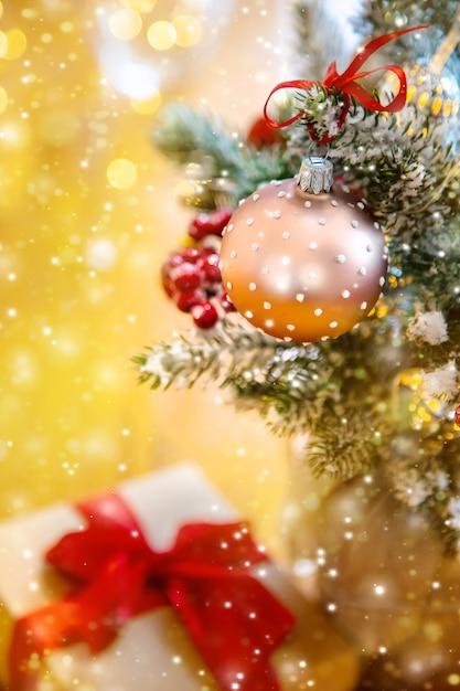 Composição de natal com linda decoração Foto Premium