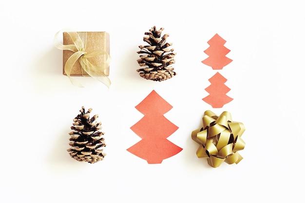 Composição de natal e ano novo. Foto Premium