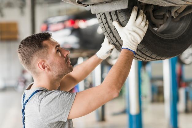 Composição de negócios de reparação de automóveis Foto Premium