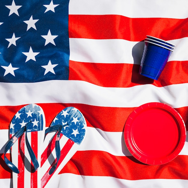 Composição do dia da independência na bandeira Foto gratuita