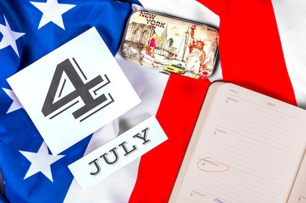 Composição do dia da independência Foto gratuita