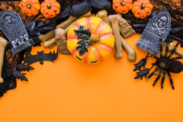 Composição do fundo de halloween Foto gratuita