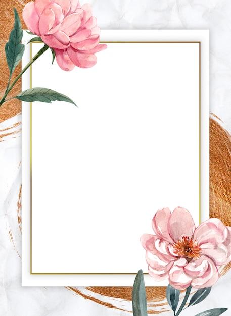 Composição do quadro em branco Foto Premium