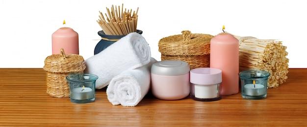 Composição do tratamento de spa Foto Premium
