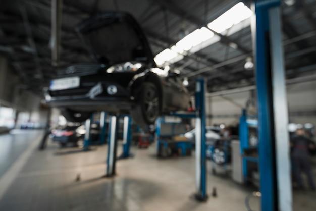Composição mecânica moderna de automóveis Foto Premium