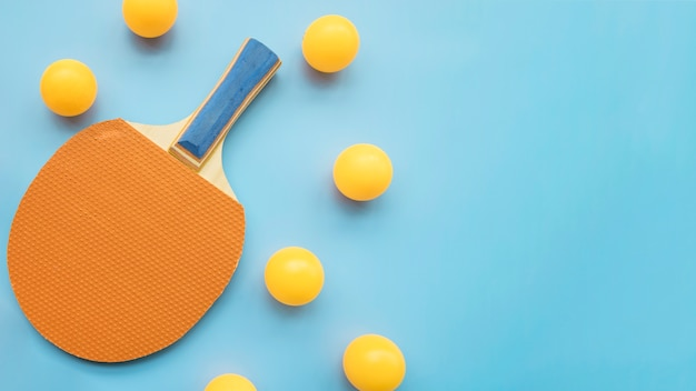 Composição moderna ping-pong Foto gratuita
