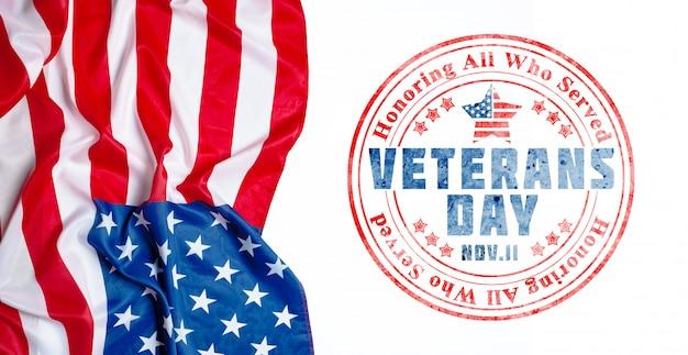 Composto da bandeira do dia dos veteranos Foto Premium