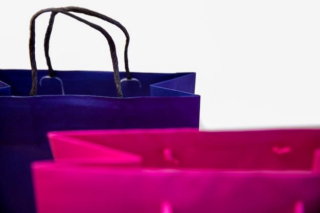 Compras de sacolas de presentes com etiquetas Foto Premium