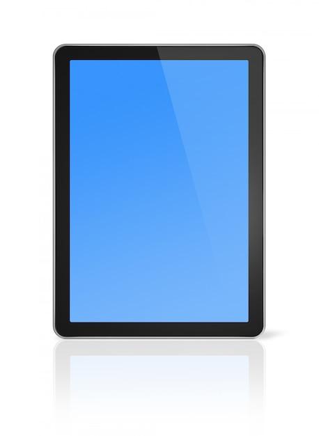 Computador 3d, digital tablet pc, isolado no branco com traçado de recorte Foto Premium