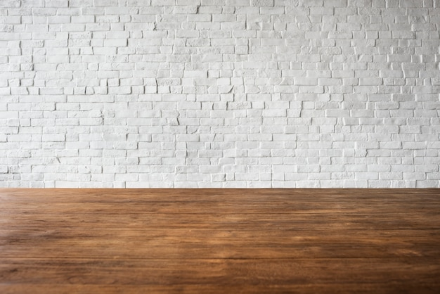 Conceito branco textured estrutura da parede do assoalho do tijolo de madeira Foto gratuita