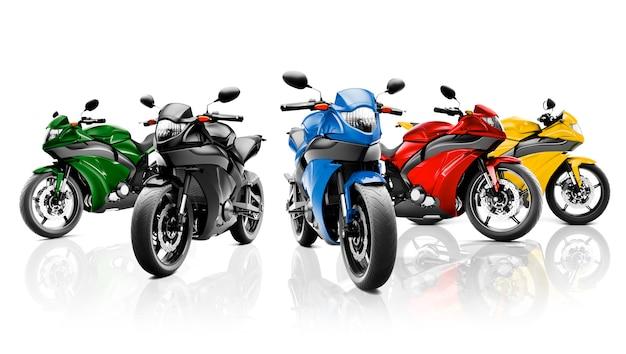 Conceito brandless do veículo do velomotor da motocicleta Foto Premium