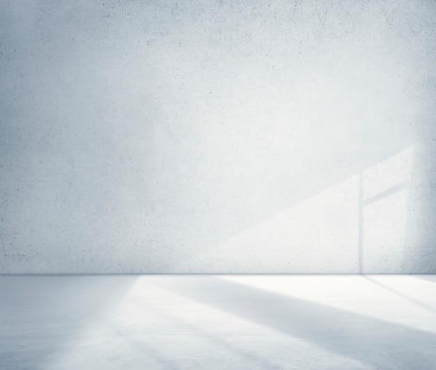 Conceito concreto do papel de parede do cimento da sombra do canto da sala Foto gratuita