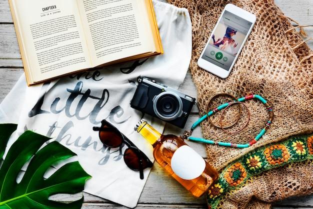 Conceito da exploração da viagem das férias das férias de verão da praia Foto gratuita