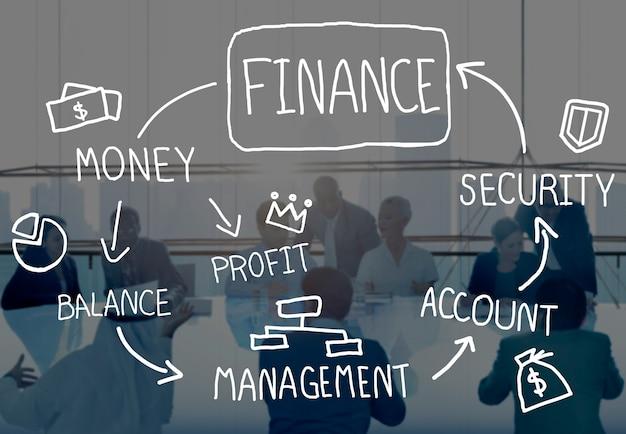 Conceito da gestão da análise da contabilidade de negócio da finança Foto gratuita