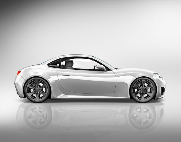 Conceito da ilustração do transporte 3d do veículo do carro Foto Premium