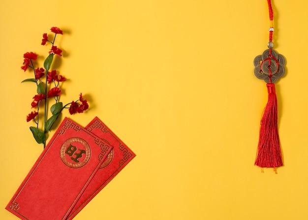 Conceito de ano novo chinês com espaço de cópia Foto gratuita