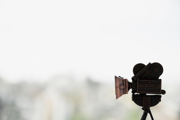Conceito de cinema com câmera Foto gratuita