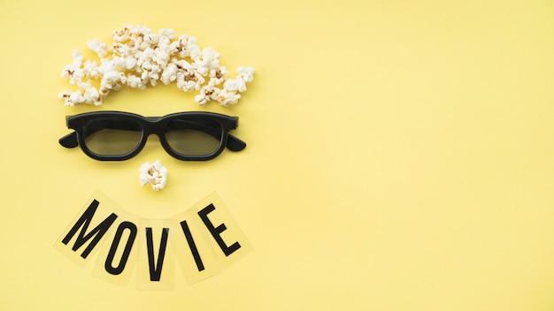 Conceito de cinema com copyspace Foto gratuita