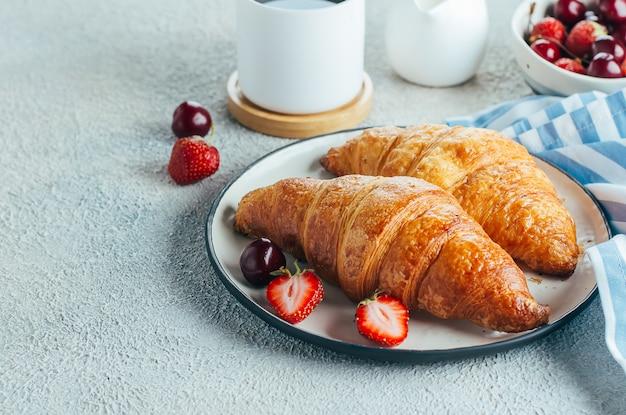 Conceito de comida de pequeno-almoço delicioso Foto Premium