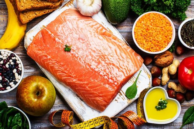 Conceito de comida saudável Foto Premium