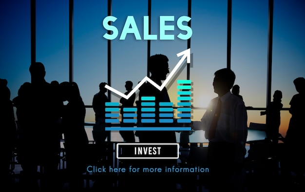 Conceito de contabilidade do lucro da renda de varejo das vendas Foto gratuita