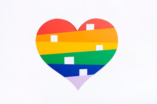Conceito de coração dia do orgulho Foto gratuita
