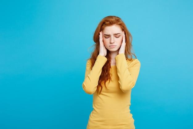Mulher com tontura estresse sintoma ovulação TPM ou gravidez