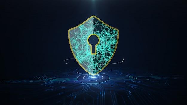 Conceito de cyber security de proteção de dados. Foto Premium