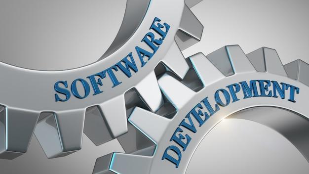 Conceito de desenvolvimento de software Foto Premium