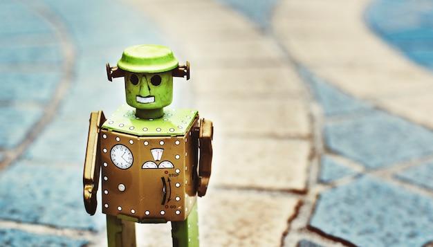 Conceito de design de cultura futura mundo robô Foto gratuita