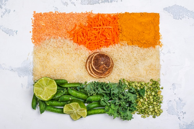Conceito de dia da independência de india Foto Premium
