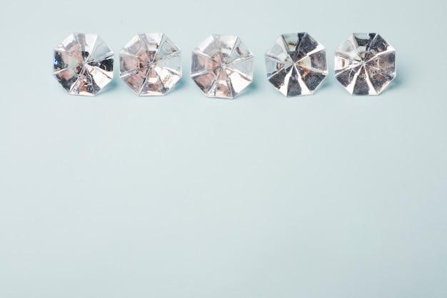 Conceito de diamantes linda com estilo elegante Foto gratuita