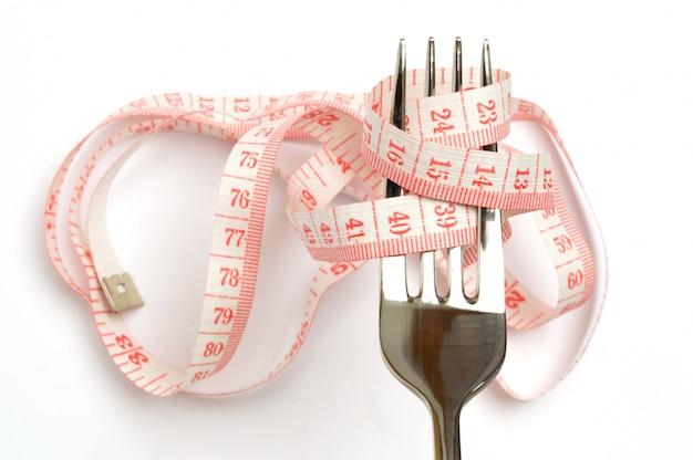 Conceito de dieta, perder peso e comer saudável Foto Premium