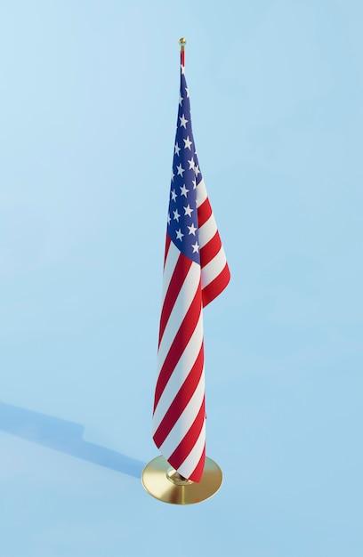 Conceito de eleições americanas com bandeira da américa Foto gratuita