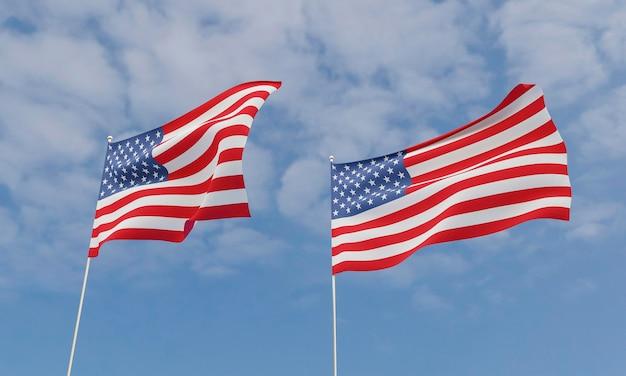Conceito de eleições americanas com bandeira da américa Foto Premium