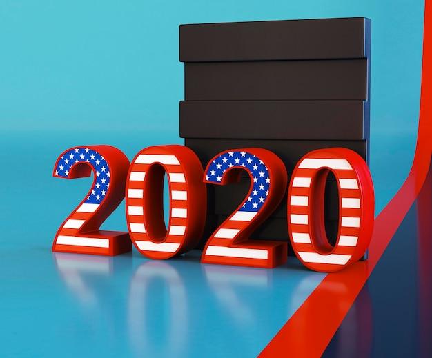 Conceito de eleições americanas com espaço de cópia Foto gratuita