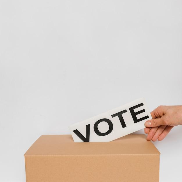 Conceito de eleições com espaço de cópia Foto gratuita