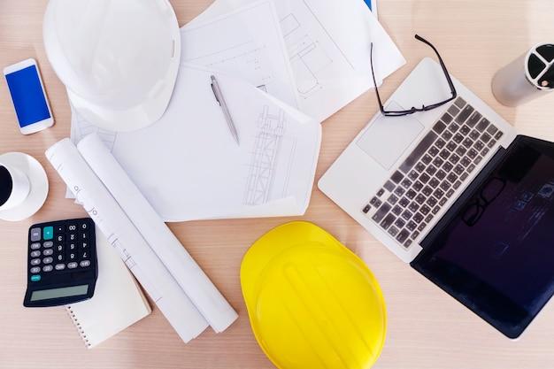 Conceito de engenharia e construção. Foto Premium