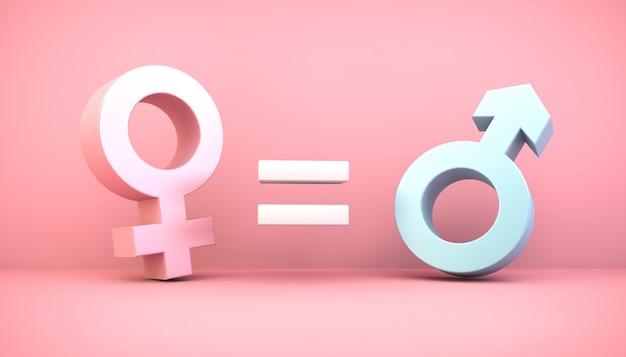 Conceito de equidade de gênero Foto Premium