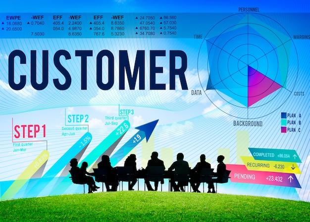 Conceito de estratégia de eficiência de serviço de lealdade do cliente Foto gratuita