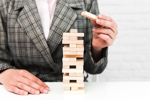 Conceito de estratégia de negócios com um jogo Foto gratuita